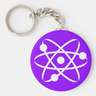 Violet Purple Atom Key Ring
