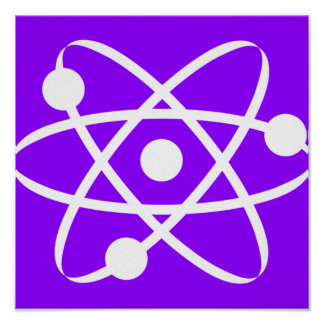 Violet Purple Atom Poster
