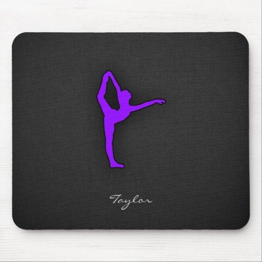 Violet Purple Ballet Dancer Mouse Pads