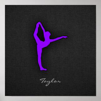 Violet Purple Ballet Dancer Poster