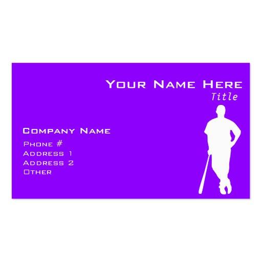 Violet Purple Baseball, Softball Business Card
