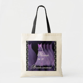 VIOLET PURPLE Bridesmaid Dresses Cotton Tote Bag