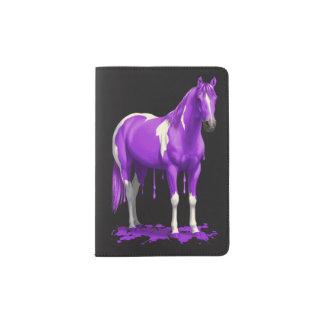 Violet Purple Dripping Wet Paint Horse Passport Holder