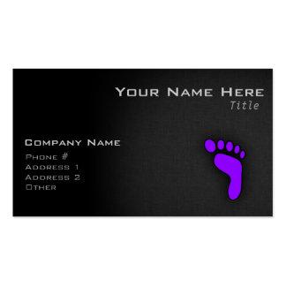 Violet Purple Footprint Pack Of Standard Business Cards