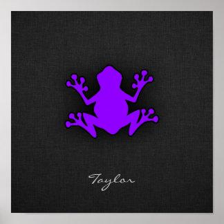 Violet Purple Frog Poster