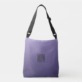 Violet Purple Gradient custom monogram bags
