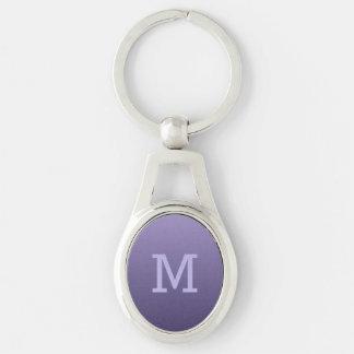Violet Purple Gradient custom monogram key chain