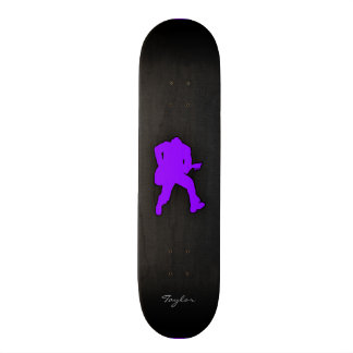 Violet Purple Guitar Player Custom Skate Board