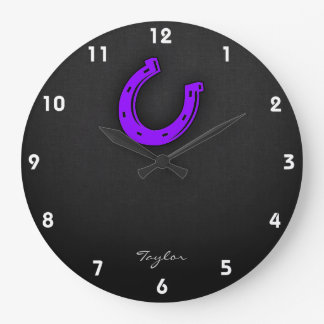 Violet Purple Horse shoe Wallclock