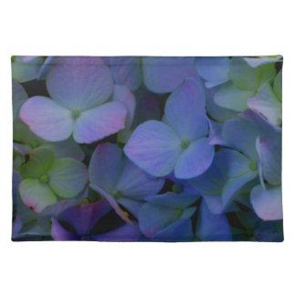 Violet purple hydrangeas placemat