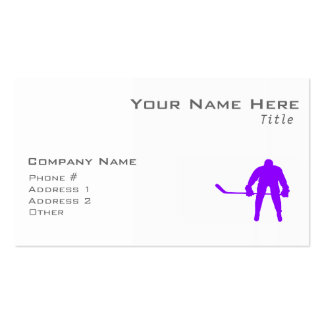 Violet Purple Ice Hockey Pack Of Standard Business Cards