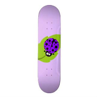 Violet Purple Ladybug Skate Board
