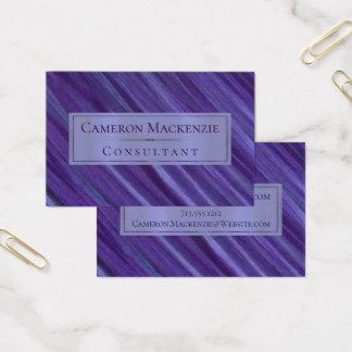 Violet | Purple Lavender Plum Lilac Brushstrokes Business Card