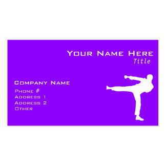 Violet Purple Martial Arts Business Card Template