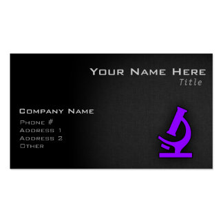 Violet Purple Microscope Pack Of Standard Business Cards