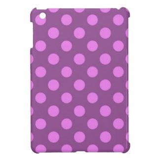 Violet Purple Polka Dot Pattern Girly Trendy iPad Mini Case