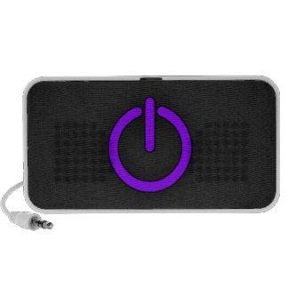 Violet Purple Power Button Speakers