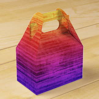 Violet, Purple, Red and Orange Gradient Textured Favour Box