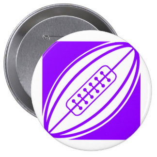 Violet Purple Rugby Pinback Button