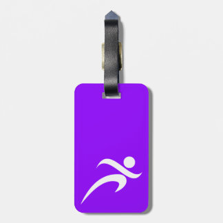 Violet Purple Running Bag Tag