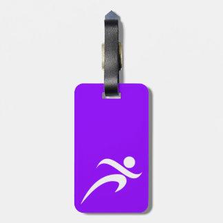 Violet Purple Running Luggage Tag