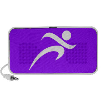 Violet Purple Running iPhone Speakers