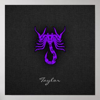 Violet Purple Scorpio Poster