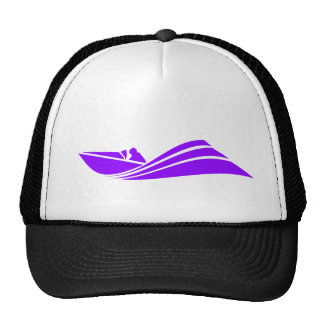 Violet Purple Speed Boat Cap