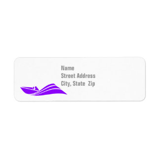 Violet Purple Speed Boat Return Address Label