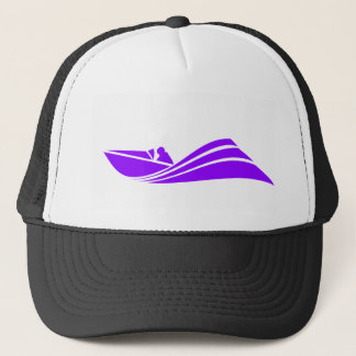 Violet Purple Speed Boat Trucker Hat