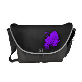 Violet Purple Taurus Messenger Bags