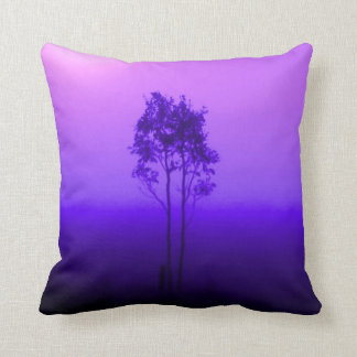 Violet Purple Trees Pillow