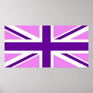 Violet Purple Union Jack Poster