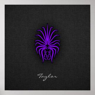 Violet Purple Virgo Posters
