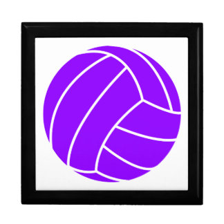 Violet Purple Volleyball Large Square Gift Box
