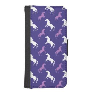 Violet Purple & White Horse; Equestrian