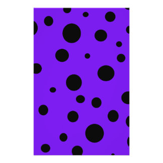 Violet Purple with Black Polka Dots Products Flyers