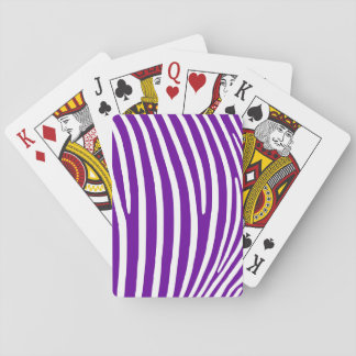 Violet Purple Zebra Stripes Playing Cards