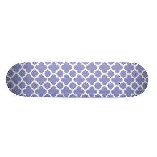 Violet Quatrefoil Trellis Pattern Skateboard