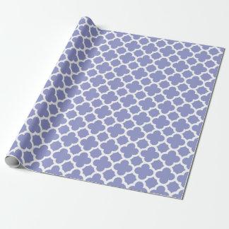 Violet Quatrefoil Trellis Pattern Wrapping Paper