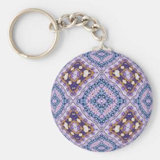 Violet Quilt Key Ring