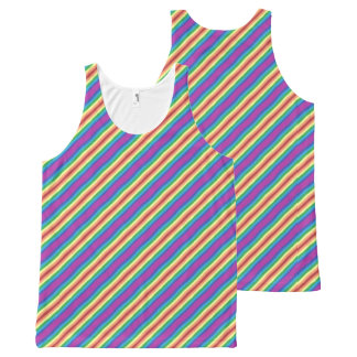 Violet Rainbow All-Over Print Tank Top