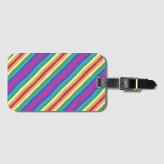 Violet Rainbow Bag Tag