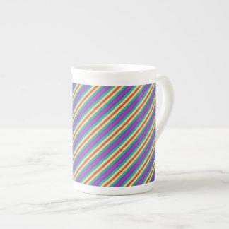 Violet Rainbow Tea Cup