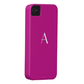 Violet Red Color iPhone4 Monogram Case iPhone 4 Cases