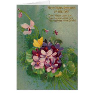 Violet & Red Violet Violets Card