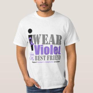 Violet Ribbon Best Friend - Hodgkin's Lymphoma T-Shirt