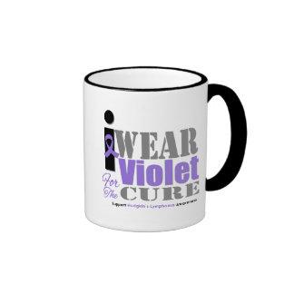 Violet Ribbon Cure Hodgkin's Lymphoma Mugs