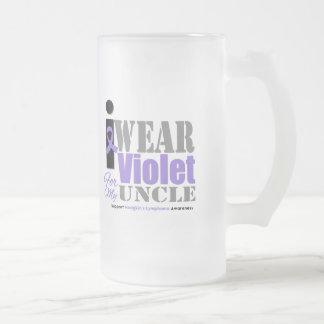 Violet Ribbon For My Uncle - Hodgkin's Lymphoma Mugs