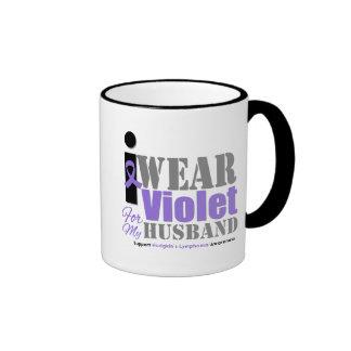 Violet Ribbon Husband - Hodgkin's Lymphoma Coffee Mugs